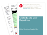Cover for Basic Usability Audit and Checklist - Digital Marketing Template Files