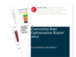 Cover for Conversion Rate Optimization Report 2012