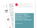 Cover for Quarterly Digital Intelligence Briefing: Making Sense of Marketing Attribution