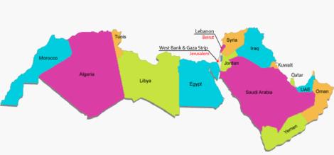 MENA region map