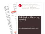 Cover for B2B Digital Marketing Briefing: Key Takeaways from FUNNEL 2012