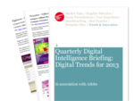 Cover for Quarterly Digital Intelligence Briefing: Digital Trends for 2013