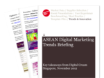Cover for South-East Asia Digital Marketing Trends Briefing: Key takeaways from Digital Cream Singapore 2012