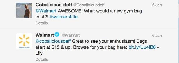 Twitter Walmart Mainly Uses Twitter To