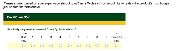 Email best practice: Evans Cycles shows value of collecting
