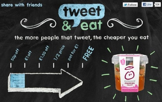 tweet and eat - Innocent