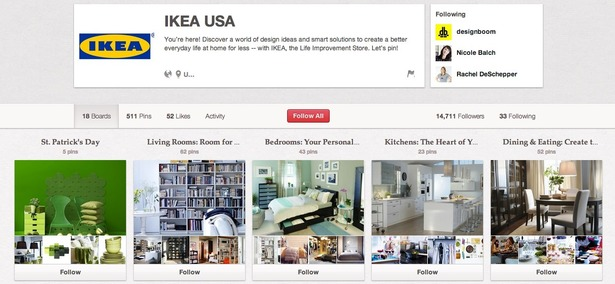 How Ikea Uses Pinterest Facebook Twitter And Google Econsultancy