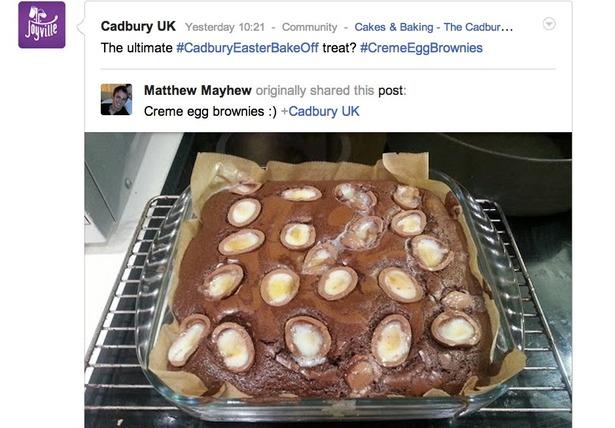 cadbury google plus