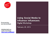 Cover for Using Social Media to Influence Influencers: Digital Workshop