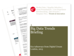 Cover for Big Data Trends Briefing: Digital Cream London 2013