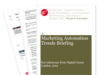Cover for Marketing Automation Trends Briefing: Digital Cream London 2013
