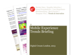 Cover for Mobile Experience Trends Briefing: Digital Cream London 2013