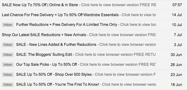 How Reiss Used Email To Lure Me Into Browsing Its Summer Sale
