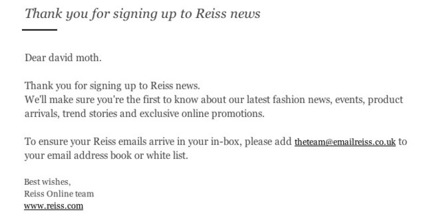 How welcome emails vary among 16 fashion retailers, and who didn't ...