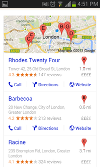 Mobile app local optimization