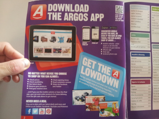 Could Argos do more to integrate digital into its print catalogue