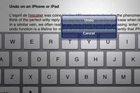 Undo on iPhone