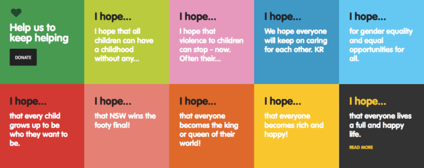 I hope.. Tunel of Hope messages