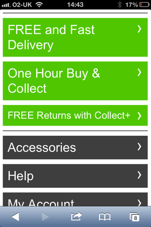 Schuh mobile delivery info