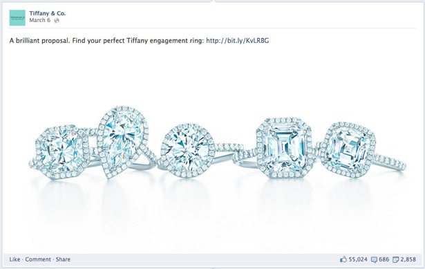 How Tiffany Co Uses Facebook Twitter Pinterest And Google Econsultancy