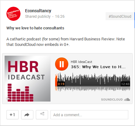 G+ SoundCloud