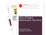Cover for State of Digital Marketing in Asia 2013