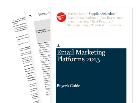 Email Marketing buyers guide 2013