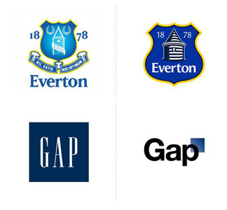 Everton Gap logos beforeafter rebrand