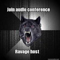 join audioconference, ravage host
