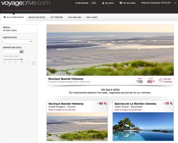Secret escapes and voyage prive travel flash sale sites for Designer flash sale sites