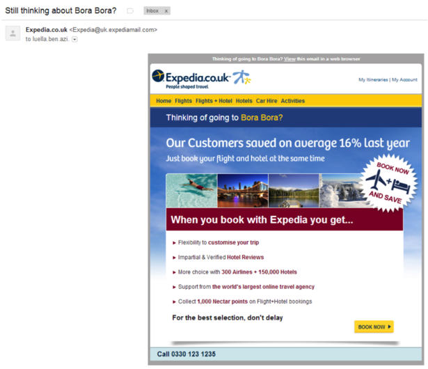 Expedia email