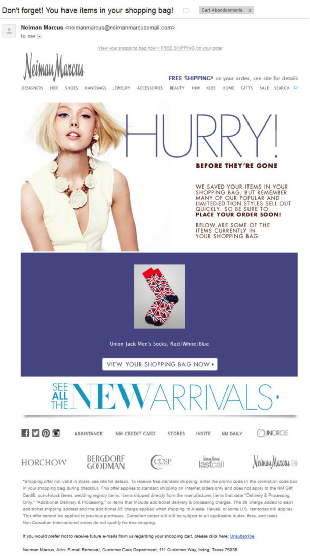 Neiman marcus recovery email