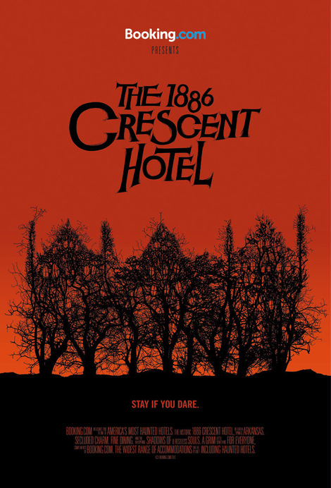 1886 crescent hotel poster