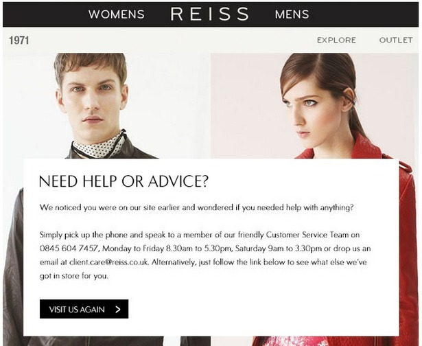 reiss automated email