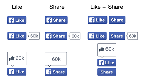 New designs for Facebook Like and Share buttons