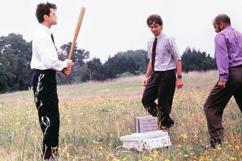 fax machine office space scene