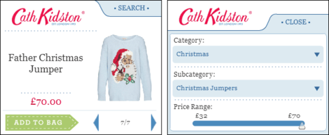Cath Kidston Christmas widgets