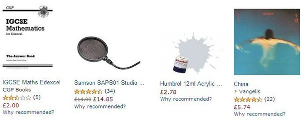 My Amazon recommendations