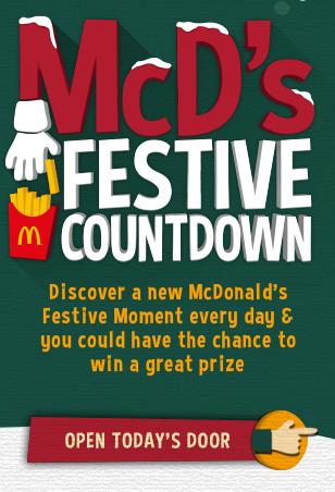 mcdonald's festive countdown