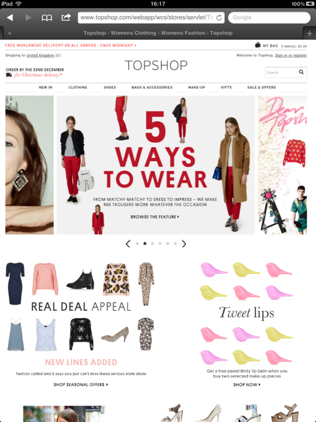 topshop is a trend setting retailer marketing essay Topshop use content marketing across their communication channels, using only relevant information to engage their followers in order to encourage spending this is an ongoing process which they strategically apply to both their website and facebook channels of communication.