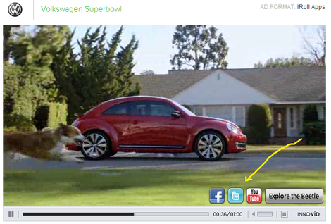 social within an online video ad for volkswagen