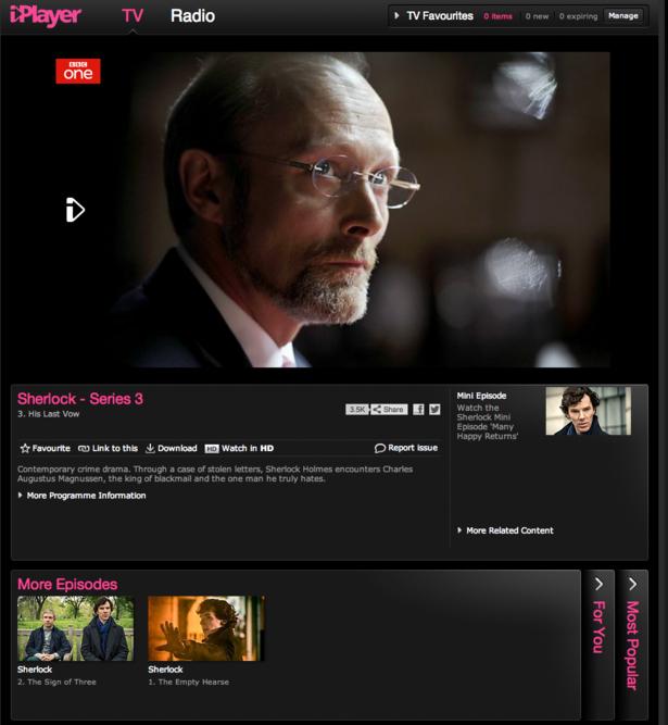 BBC iPlayer, ITV Player, 4oD, Demand 5: a UX comparison
