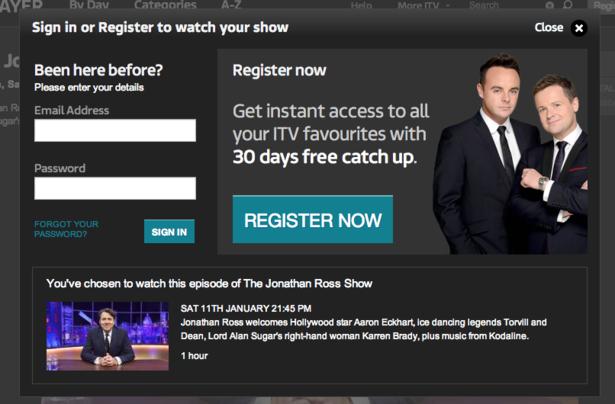 BBC iPlayer, ITV Player, 4oD, Demand 5: a UX comparison - Econsultancy
