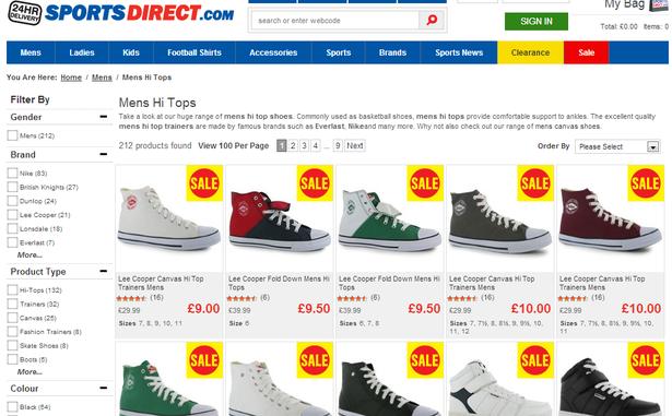 Sports Direct Shoes Sale