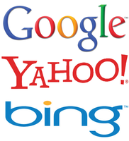 Search engines - Google, Bing, Yahoo
