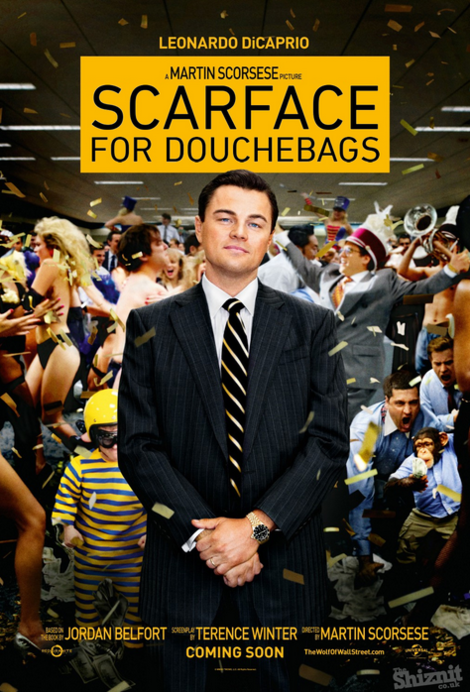 wolf of wall street shiznit poster