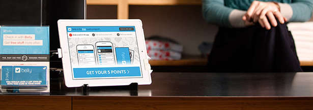 loyalty app on tablet
