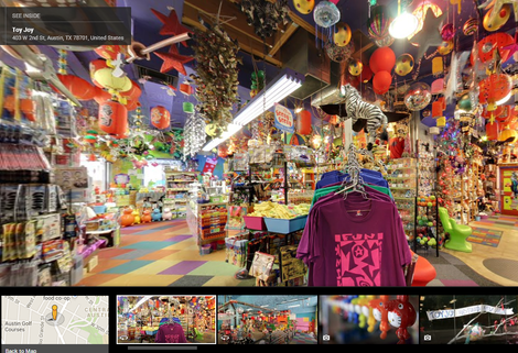 Toy Joy toy shop in Austin, Texas, on Google Business Photos