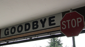 Goodbye and stop signs