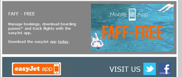 easyjet email app download cta